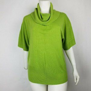 Avenue Womens Sweater Cowl Neck Lime Green 18/20